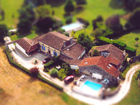 Beausoleil from above-tiltshift