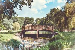 Bridge at the lake in Lauzun