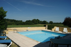 Pool overlooking the fields