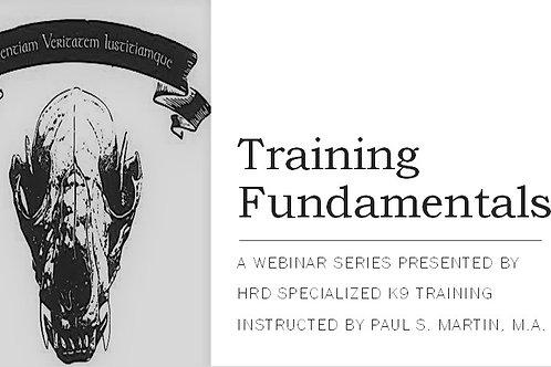 Training Fundamentals a 4-Part Series