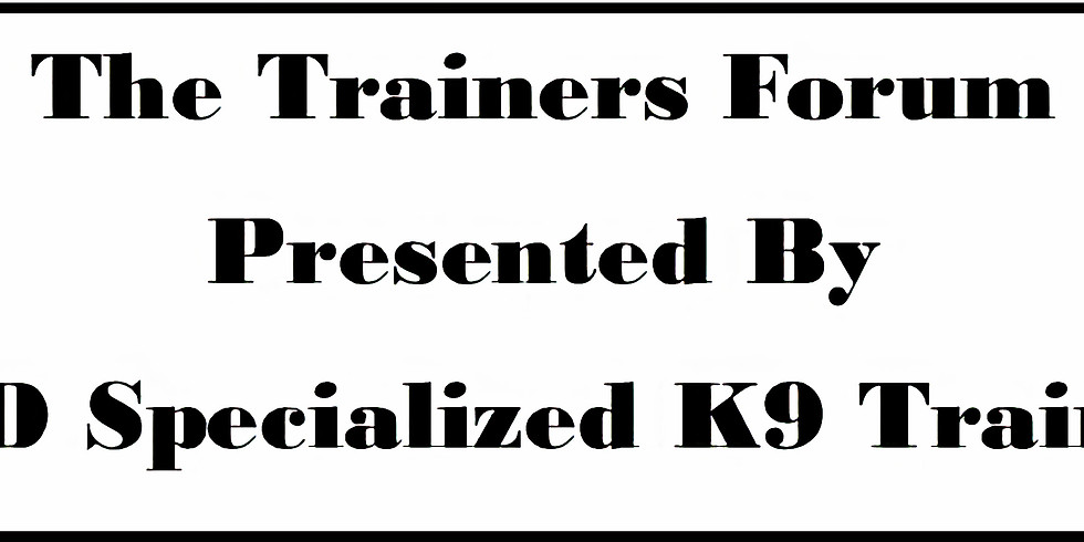 2020 Monthly Trainers Forum