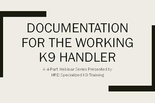Documentation for the Working K9 Handler