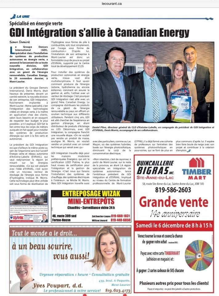 Journal le Courant ( Mont-laurier )