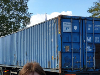 Container auf dem Weg nach Haiti
