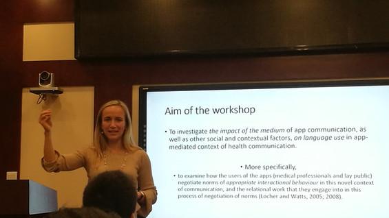 Workshop on digital health communication, Nov 2018