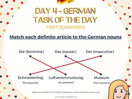 German Week Day 4 Answer