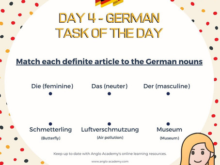 German Week Day 4 Question