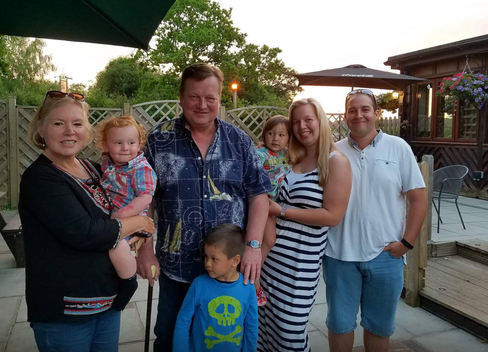 Clare Heaton and family