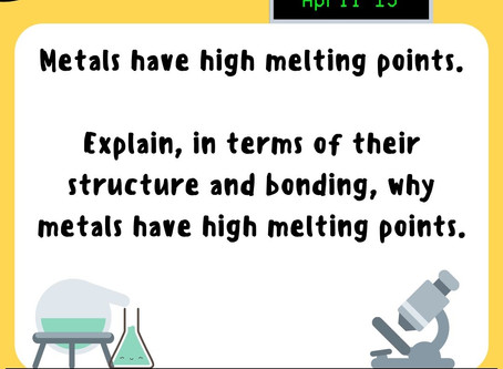 Chemistry Week Wednesday Question