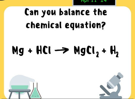 Chemistry Week Tuesday Question