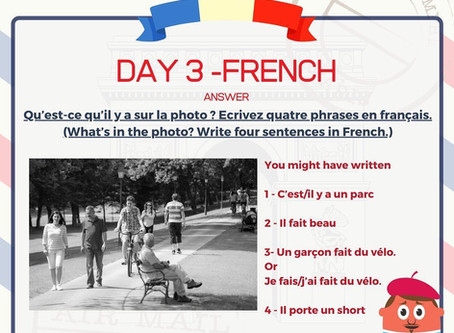 French Week Day 3 Answer