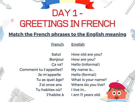 French Week Day 1 Question