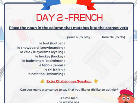 French Week Day 2 Question