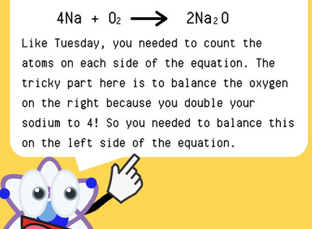 Chemistry Week Friday Answer