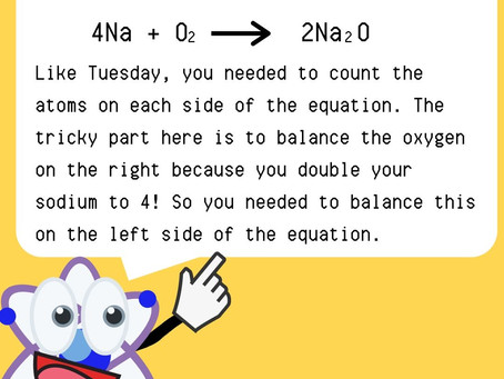 Chemistry Week Friday Answer