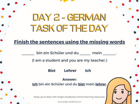 German Week Day 2 Answer