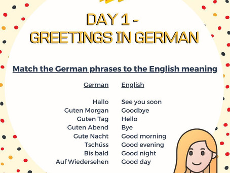 German Week Day 1 Question