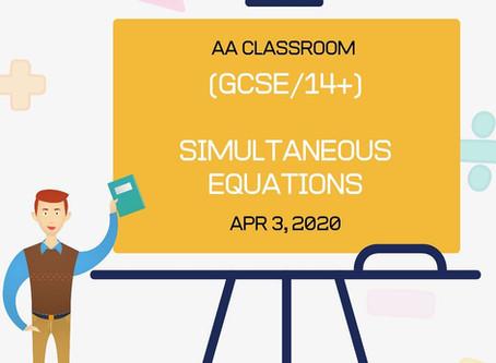 Simultaneous Equations (GCSE/14+)