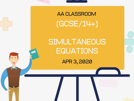 Simultaneous Equations (GCSE/14+)