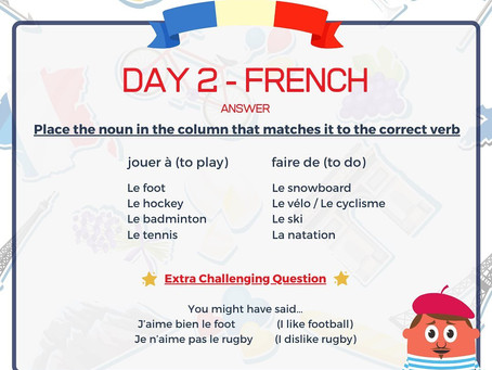 French Week Day 2 Answer