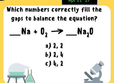 Chemistry Week Friday Question