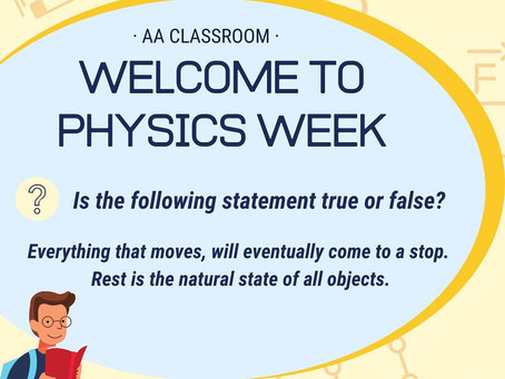 Welcome to Physics Week - Monday Question