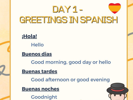 Spanish Week Day 1 Question