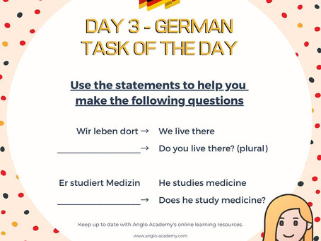German Week Day 3 Question
