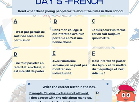 French Week Day 5 Question