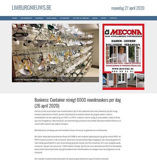 Limburgnieuws Container reinigt 6000 mon