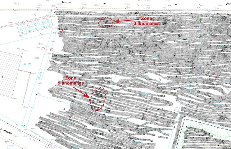 géoradar tomographie galerie de mine