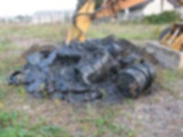 fûts métalliques dépollution pyrotechnique monitoring panache décharge