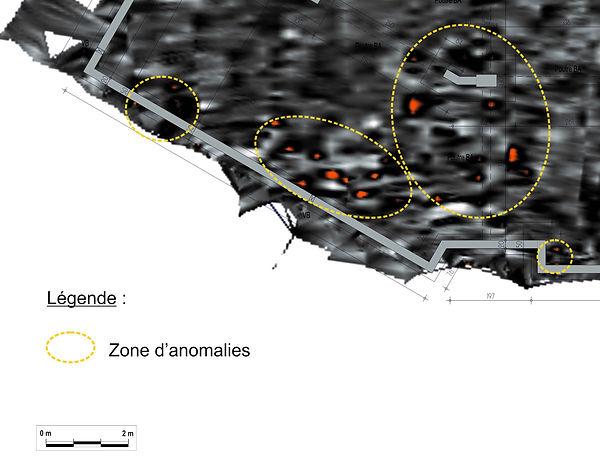 géoradar cavité vide radargramme tomographie