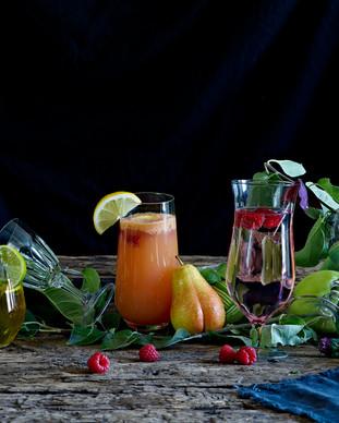 alkoholfri drikke stylet med ingrediense