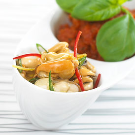 Marinated blue mussel