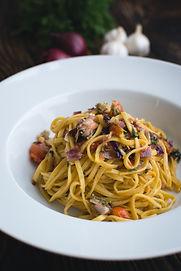 Verse Pasta Linguine met dille en groent