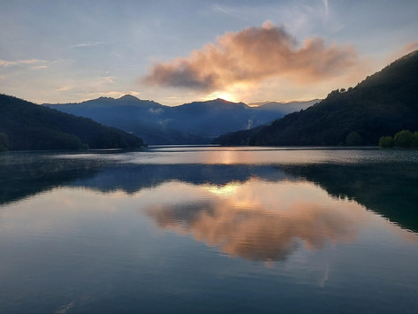 Il Lago del Brugneto.