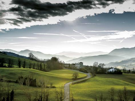 La panoramica tra Bassano e Montechiaro in Val Trebbia