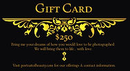portrait of beauty gift card