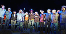 Russell, Amy Helm, Matt Anderson, Corb Lund, Joey Landreth and band during the Last Waltz Revisited