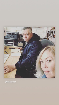 Russell with Jann Arden