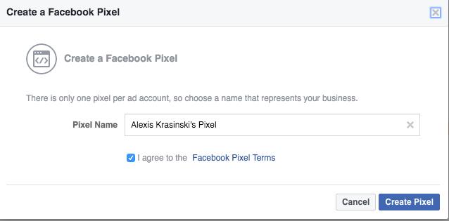 Create Facebook Pixel
