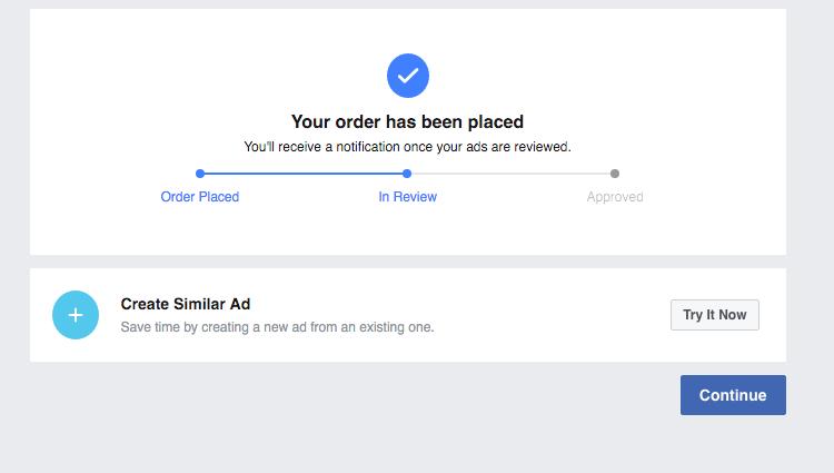 Facebook Pixel Order Placed