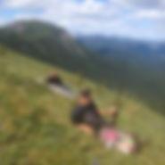 Morg on hillside.JPG