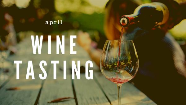 April Wine Tasting in the Garden