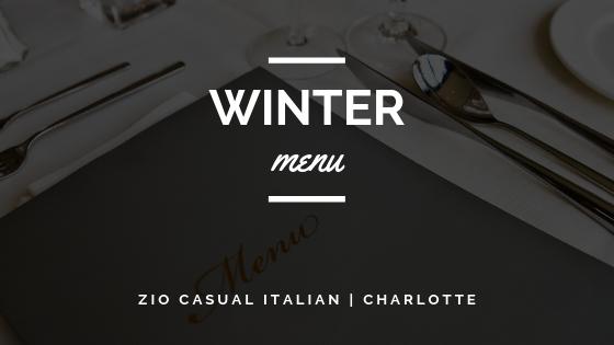 Zio's Winter 2018 Menu