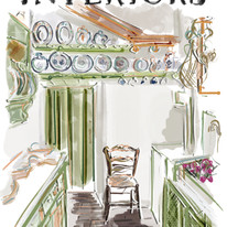 The World of Interiors illustrated cover