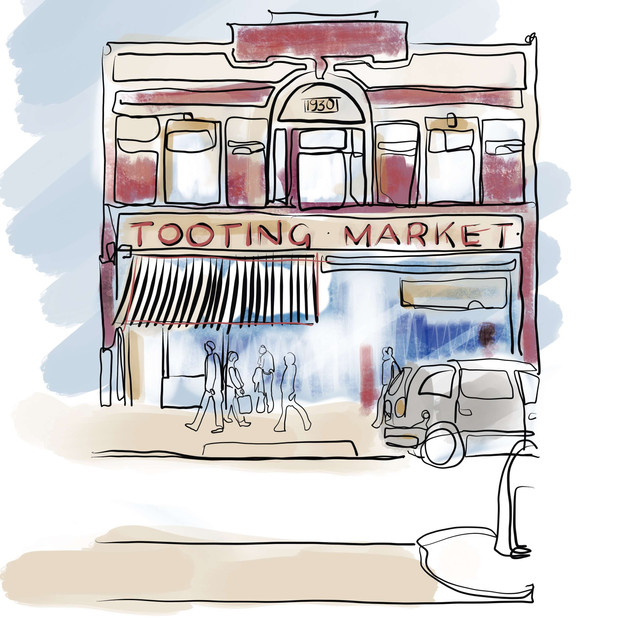 Tooting Market Sketch