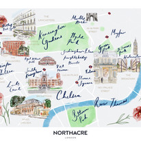 Northacre map