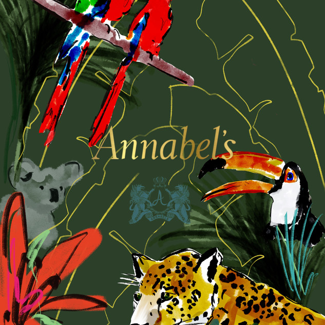 Rainforest Evening (mock up) at Annabel's